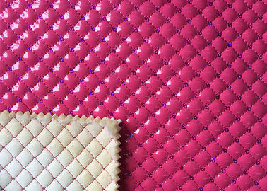 Mildew Proof Quilted Leather Fabric Nonwoven Synthetic PU Embroidered