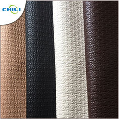 Artificial Black Leather Fabric , Recycled Leather Fabric Vinyl Secondary Fabric
