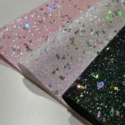 Colorful Artificial Chunky Glitter Fabric For Decoration
