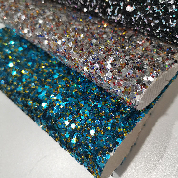 Wallpaper Grade 3 Chunky Glitter Leather Fabric For Shoes